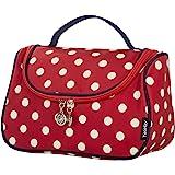 حقيبة مستحضرات تجميل، حقيبة أدوات تجميل، حقيبة سفر منظمة لمستحضرات التجميل للنساء من يوتسي, , Classic Red - PolkaDots Bag