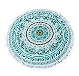 Lozse Runde Quaste Strandtuch Strand-Yoga-Matten-Schal-Schal Tapestry Tischdecke Picknickdecke Schal