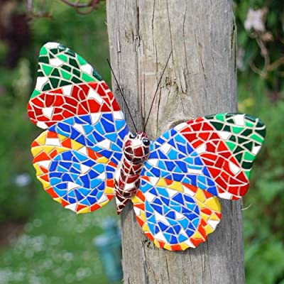 Wall Art Mosaic Butterfly Multi Coloured OGD231