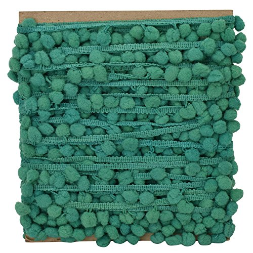 Pom Pom Trim grünen Thread Fringe dekorative Spitze Polster Band Kleid Handwerk Versorgung von der Werft -