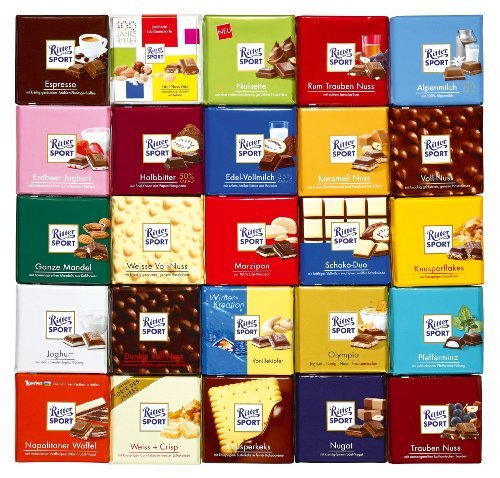 Ritter Sport - All-in-One-Paket - 25x100g (Ritter Sport Marzipan)