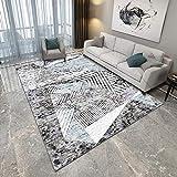 YCMXMY Teppich Schlafzimmer Rutschfester Kunstfell Carpet Farbige Dreieckgeometrie Warm Und Pflegeleicht 160X230Cm