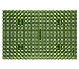 Dehner Fußmatte Grasoptik, ca. 60 x 40 cm, Kunststoff, grün