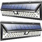 Litom Solar Security Lights Outdoor Solar Wall Lights 54 LED, Solar Lights Garden Super Bright Solar Power Lights for Garden, Patio, Deck, Pathway (2 Packs)