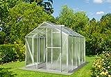 myowngreen Hobby Gewächshaus 197 x 350 x 202 cm (BxLxH) EIN stabiles Treibhaus mit Echtglas Seitenwänden aus Nörpelglas Glashaus für Tomaten, Gurken und Gemüse Aller Art gerne auch Blumen