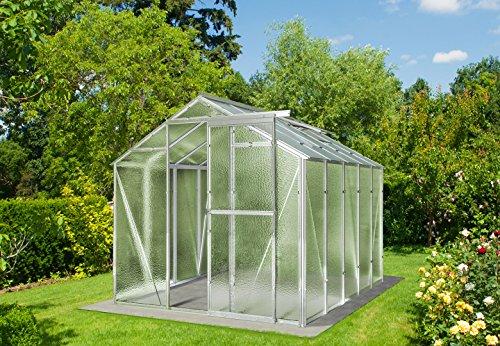 Myowngreen Hobby Gewächshaus 197 x 251 x 202 cm (BxLxH) ein stabiles Treibhaus mit Echtglas Seitenwänden aus Nörpelglas Glashaus für Tomaten, Gurken und Gemüse aller Art gerne auch Blumen