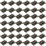 HSeaMall 50 STÜCKE Schmetterling Folding Butt Scharniere Mini Antike Bronze Wohnmöbel Schrank Hardware Tür Schublade Schrank Scharnier mit 200 STÜCKE Schrauben