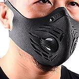 Base Camp Staubdicht Maske Ohrbügel Haken & Flausch Anti-Verschmutzungsmaske Aktivierte Kohlenstoff Filtration Abgas Anti Pollen Allergie für Motorrad Biken alle Outdoor-Aktivitäten(Gray)
