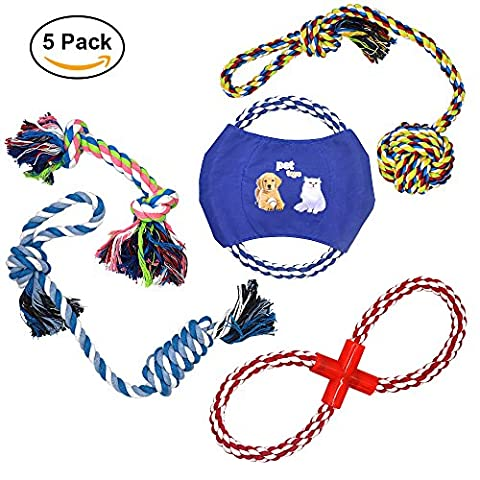 Dog Rope Toys ANICOR Color Rope Durable Chew Toys Coton