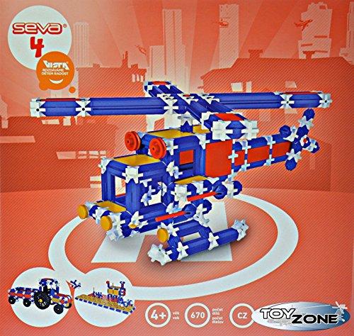 Preisvergleich Produktbild Seva Steckbaukasten 670 Teile Stecksystem Motorikspielzeug Steckspiel Konstruktionsspielzeug