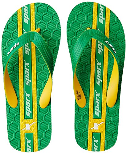 Sparx Men's Fluorescent Green and Yellow Flip Flops Thong Sandals - 10 UK/India (44.67 EU)(SF2047GFGYL)  available at amazon for Rs.227