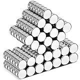 Wukong Aimant Néodyme - 6mm x 3mm Petits Aimants Frigo, 105 Pièces Aimant Puissant pour Tableau Blanc Interactif, Images, Bri