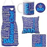 YaYa Cafe MasterChef Dad Combo Set Of 5 - Apron, Mug, Coaster, Cushion Cover, Mousepad