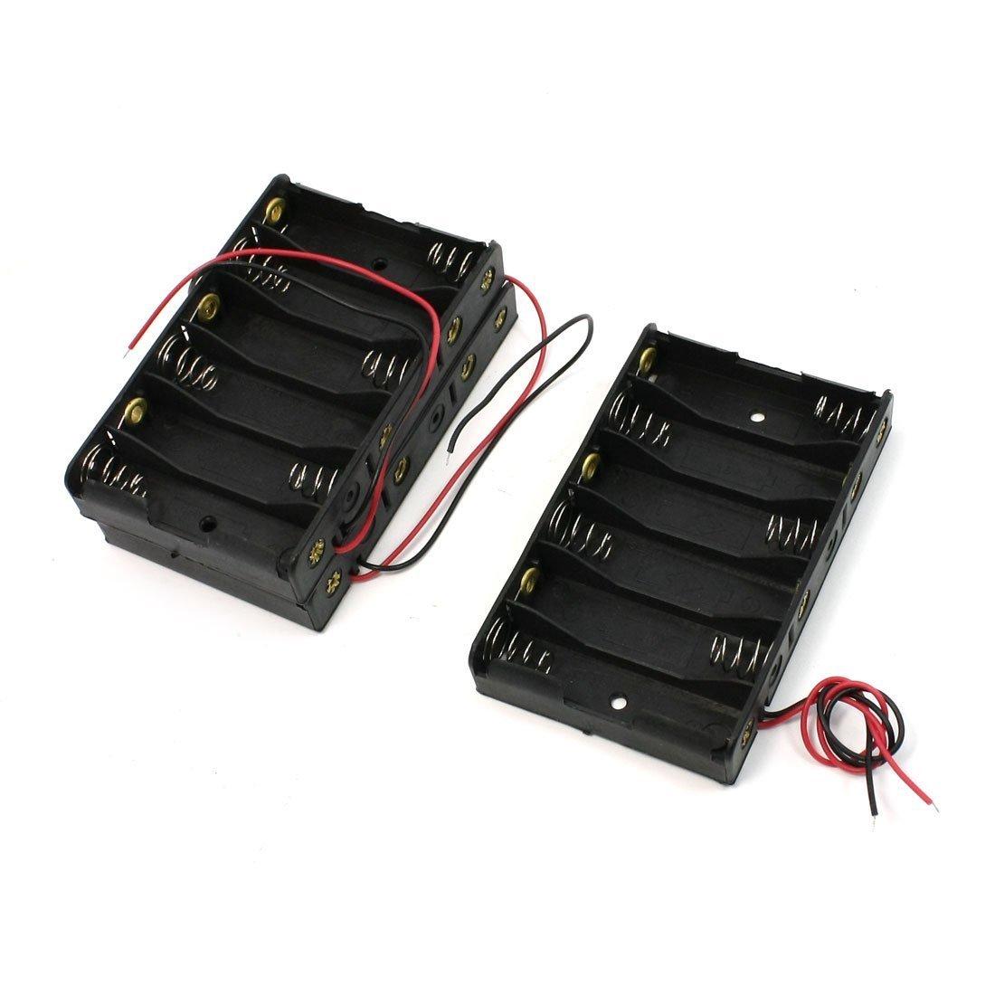 Como elettrico 6X 1.5VAA NERO CASSA DI batteria scatola di filo 3pcs