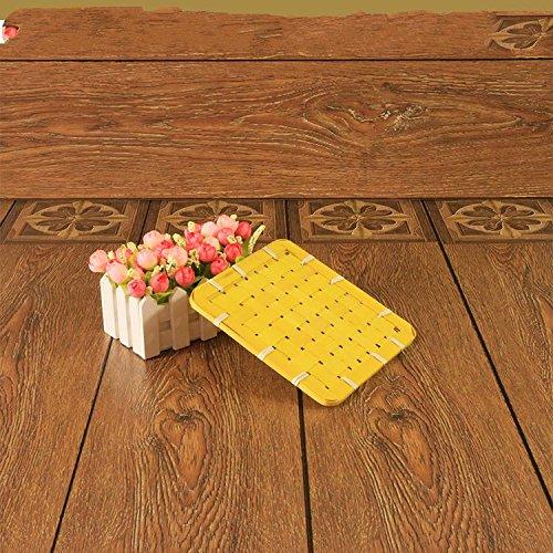 XBRsquare square bamboo mat huit creative pot mat tableau mat bowl pad pad taille isolation de bambou,Bleu,18 * cm