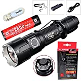 Klarus xt11s CREE xp-l Hi V3 LED 1100 Lumen Wasserdicht LED Taschenlampe Powered by 2 x CR123 A/1 x 18650 Batterien Outdoor Tactical Taschenlampe mit 2600 mAh Akku + Geschenk thenines USB-Light