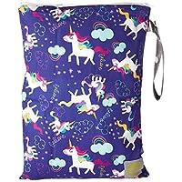 Itzy Ritzy Travel Happens Wet Bag with Handle, Medium, Unicorn Dreams
