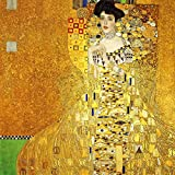 "Portrait Of Adele Bloch Bauer I By Gustav Klimt - The World Famous Classic Art Reprint - ""10 Most Famous Paintings In The World Collection"" - Large Size Premium Quality Art Prints On Photographic Paper (24 Inches X 24 Inches) For Home And Office"
