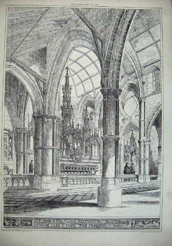 Kirchen-Heilige Herzen West-Brompton-Architektur 1883
