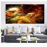 XIAOXINYUAN Abstrakte Farben Unreal Leinwand Poster Wandmalerei Wohnzimmer Große Bunte Wand Hängen Moderne Kunst 50 X 100 cm Ohne Rahmen