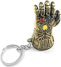 RJM Avengers Infinity War -3 New Series Thanos Gauntlet Power Stone Marvel Metal Keychain | Key Ring for Car Bike Home Keys | Key Chain for Kids Men Women Boys Girls