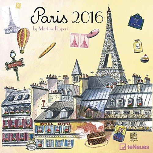 Paris 2016- Broschürenkalender/Wandkalender/Städtekalender- teNeues-30 x 30 cm
