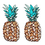 Yalulu 2 Stück 12.8*29.5CM Ananas Pailletten Große DIY Stickerei Spitze Aufnäher Aufbügler Aufnähen Applikation Iron on Patches Für T-Shirt Jeans Kleid Dekor