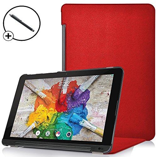 Forefront Cases® LG G Pad X II 10.1 Hülle Schutzhülle Tasche Case Cover Stand - Ultra Dünn und Leicht mit Rundum-Geräteschutz - inkl. Eingabestift (ROT)