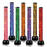 Simba Large, tubo di perle con base, lampada con pesci e luci LED, 105 cm, black model