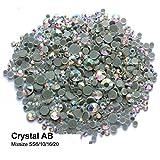 7296d90595 BrillaBenny 800 Strass Aurora BOREALE 5MM + 4MM + 3MM + 2MM TERMOADESIVI  HOTFIX Mix Misure