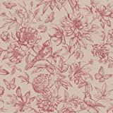 Rasch Tapeten 449495 Kollektion Florentine II-Vliestapete mit floraler Zeichnung in Rot auf Beige, 10,05 x 0,53 (LxB)