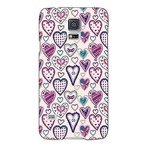 Jugaaduu Hearts Back Cover Case For Samsung Galaxy S5