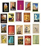 Rétro / Vintage Travel Cartes Postales - Ensemble de 20 designs différents