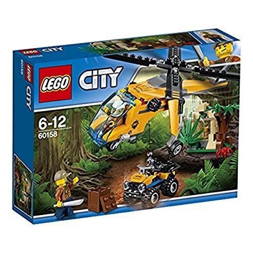 LEGO - 60158 - City - Jeu de Construction - L'hélicoptère cargo de la jungle
