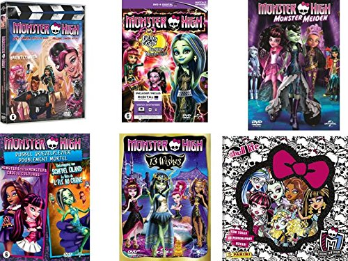 Monster High - Collection 6 films + livre autocollant