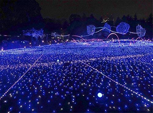 LUCKY CLOVER-A Weihnachten Solar String Lights 22 Meter 200 LEDs, Starry Fairy Lights Outdoor, Garten, Homes, Hochzeit, Party, Holiday Decoration (Wasserdicht, 8 Modi), , Blue (Leuchtet Halloween Fenster)