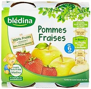Blédina - Pots Pomme banane fraise dès 4 mois 4x130g