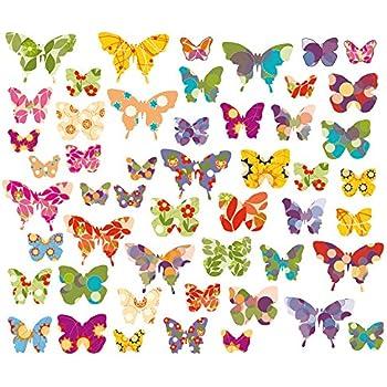 Amazon.de: Fensterbild Schmetterlinge Fenstertattoo