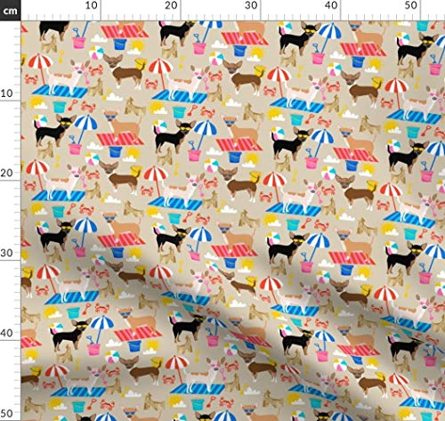 s, Hund, Hunde, Haustier, Haustiere, Sandburg Stoffe - Individuell Bedruckt von Spoonflower - Design von Petfriendly Gedruckt auf Synthetik Jersey ()