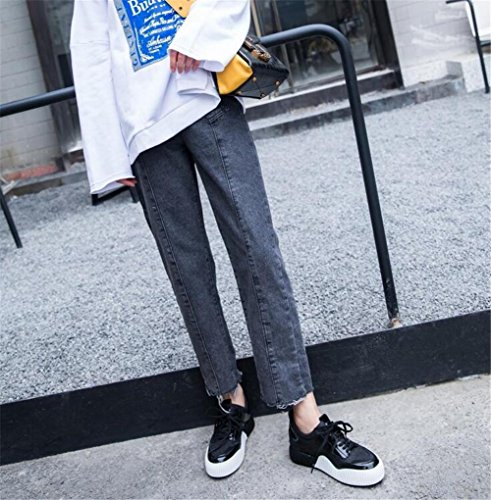 Scarpe da donna Platform Scarpe da ginnastica Sneakers Fitness Running Lace Up Size 35 To 40 Black