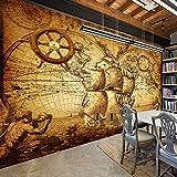 Wongxl 3D Personalizzato Grandi Murales Navigazione Tv Camera Da Letto Hotel Sfondo Carta Nautica Antica Mappa Del Mondo 3D Carta Da Parati Wallpaper Mural Murale 150cmX100cm