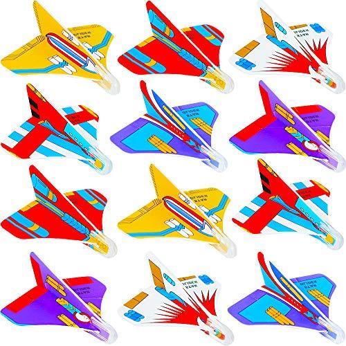 12er Set einzeln verpackt Styropor-Flieger Der Klassiker f/ür den Kindergeburtstag f/ür Tombola Schult/üte Mitgebsel /Überraschung Gleitflugzeuge Set