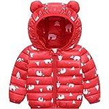 PROTAURI Chaqueta Acolchada para bebé,Abrigo de Invierno con Capucha, Prendas de Vestir Exteriores Ligeras,4-5 años