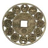 GOZAR Glücklicher Chinesischer Tierkreis Feng Shui Glücksverheißende Münzen Für Glück-Wohlstands-Schutz