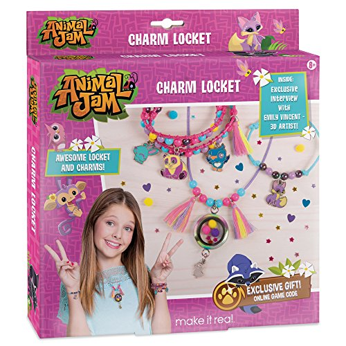 Jam Charm Locket. DIY Animal Jam Themed Locket and Charms Jewelry Making Kit for Girls. Design and Craft Animal Jam Floating Charm Locket Necklace and Charm Bracelets (Bracelet Maker Kit)