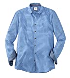 OLYMP Hemd Trachtenhemd Level 5 Body Fit blau/Weiss, Größe M