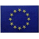 Flagge der Europäischen Union EU Europa Internationales Emblem Bestickter Aufnäher Zum Aufbügeln/Annähen