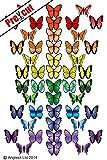 Kuchendekoration aus Esspapier, Motiv: Schmetterlinge, 48 Stück