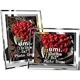Amazon Brand - Umi Cornice Foto in Vetro Portafoto 13 x 18 cm (Set di 2)