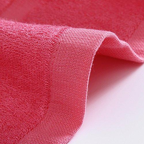 DANCICI Bambusfaser Handtuch weiche und bequeme Pro-Skin zu absorbieren Wasser Handtuch 70*140 cm, Bambus Holzkohle Grün rot